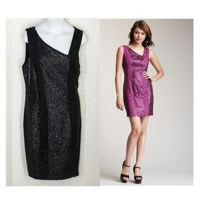 Jessica Simpson Sequin Lace Dress Black 8 Stretch